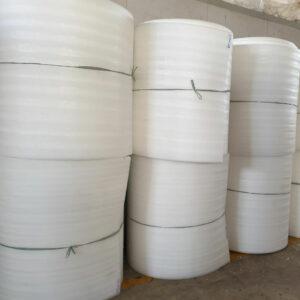 Cuộn mút xốp PE foam 2mm x 100m | xốp bọc hàng, màng xốp 2ly màu trắng
